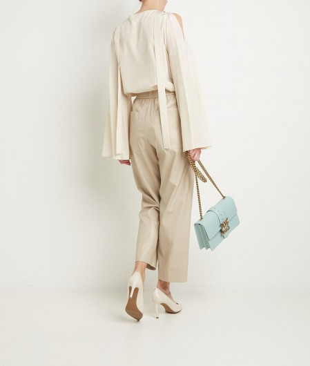 Ballantyne Blouse with bell sleeves beige