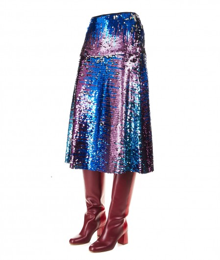 5 Progress Midi skirt with sequins royal blue