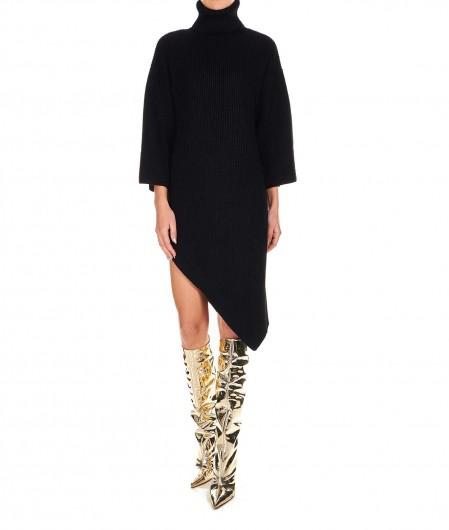 Elisabetta Franchi Knitted dress in wool blend black