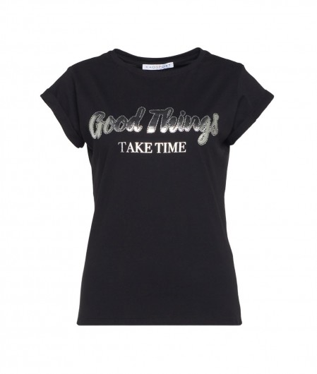 "Kaos T-Shirt ""Good things"" Schwarz"