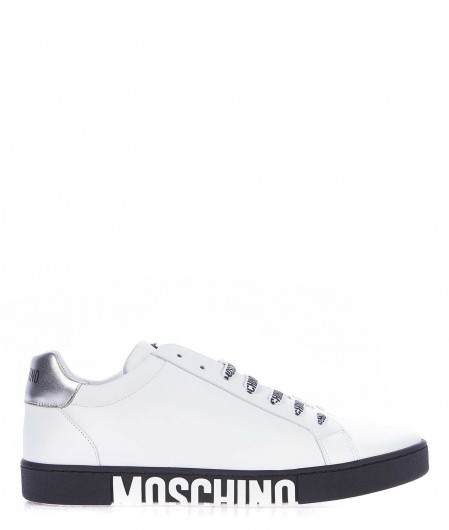 Moschino Leather sneaker white