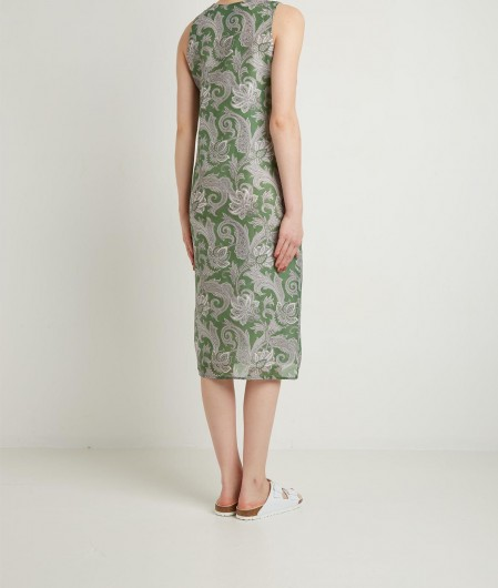 Oblo Unique Kleid mit Jabot Grün