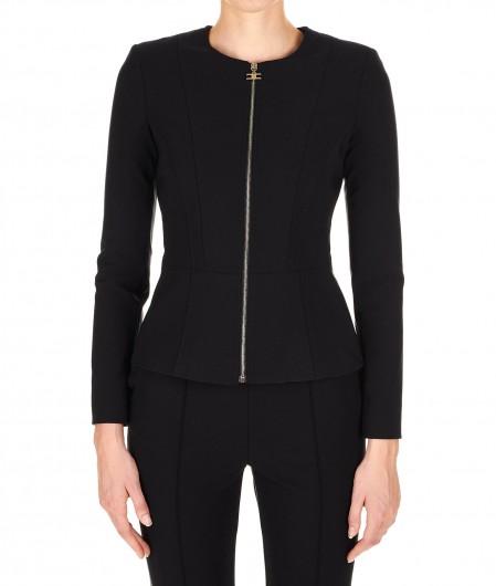 Elisabetta Franchi Jacket in technical fabric black