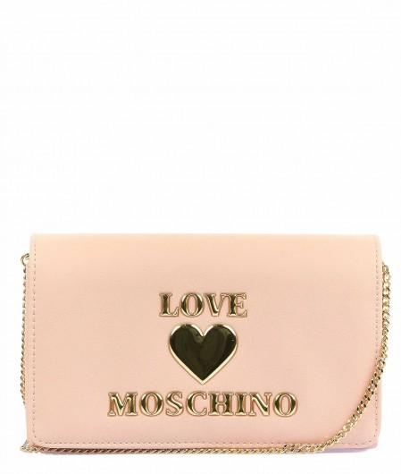 Love Moschino Cross body bag with logo writing light rose