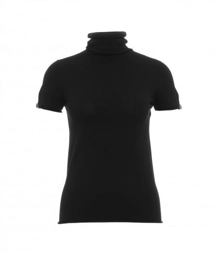 Twin Set High collar shirt black