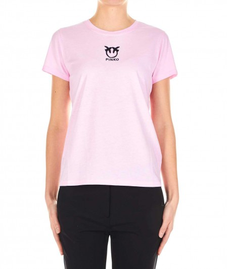 "Pinko Embroidered T-shirt ""Bussolano"" rose"