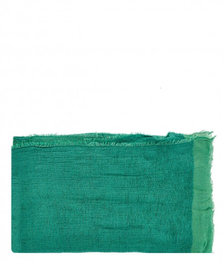 Altea Scarf with velvet finish green