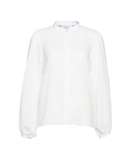 Kaos Bluse mit Puffärmel Weiß