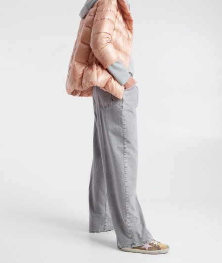 Herno Down jacket with sweater insert rose
