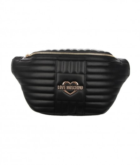 Love Moschino Quilted belt bag with logo black