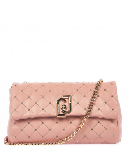Liu Jo Quilted crossbody bag antique pink