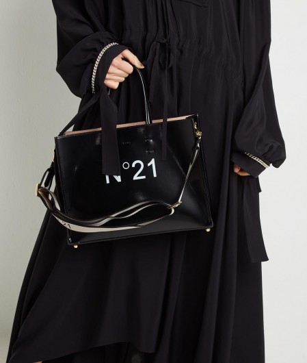 N°21 Shopper con Logo Schwarz