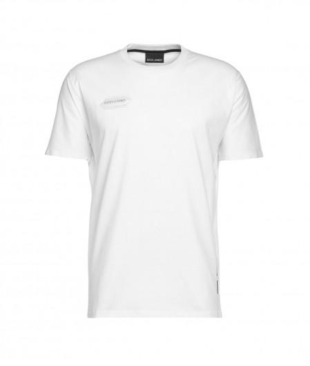 Disclaimer T-shirt with logo print white