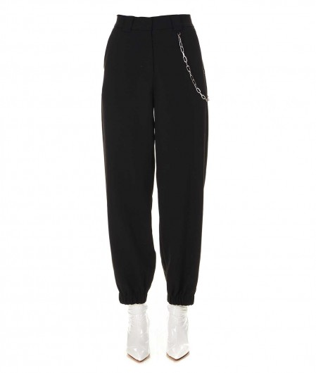 Otto d'ame Trousers with chain details black