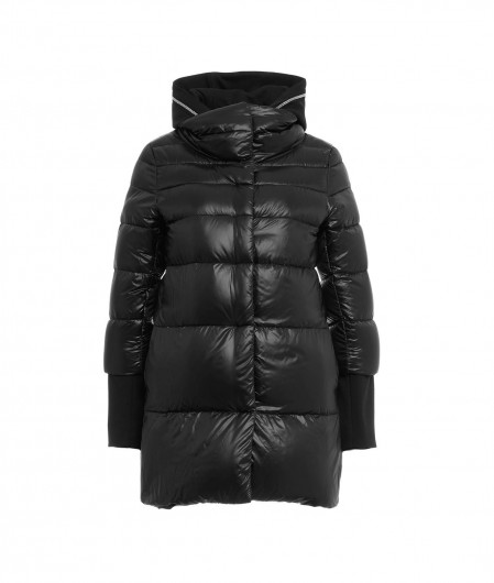 Herno Down coat with sweater insert black