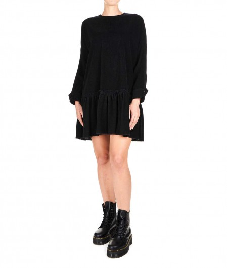 "8PM Cord velvet dress ""Alfa Centauri"" black"