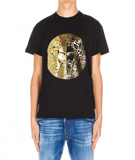 Versace Jeans Couture T-shirt with logo emblem black