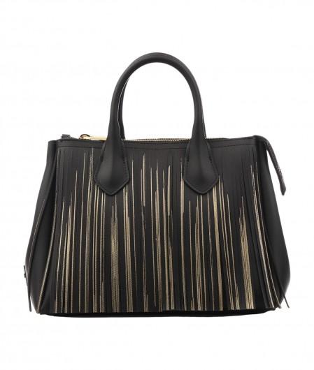 Gum  Handbag with fringes black