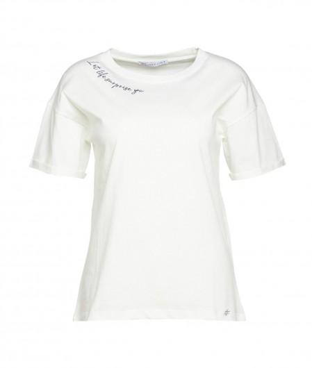 """Kaos T-Shirt """"Life"""" Weiß"""