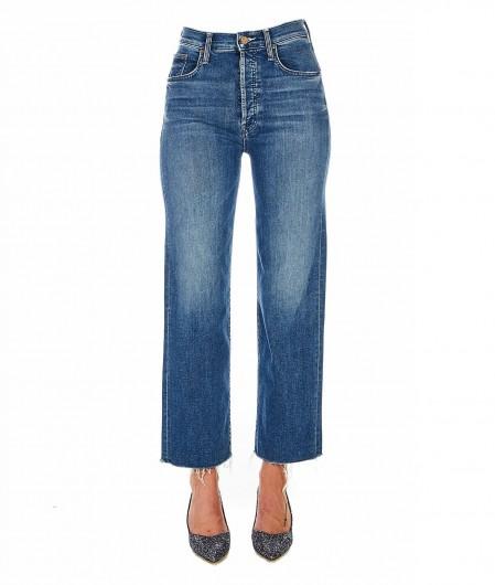 Mother Rambler Ankle Fray Jeans Blau