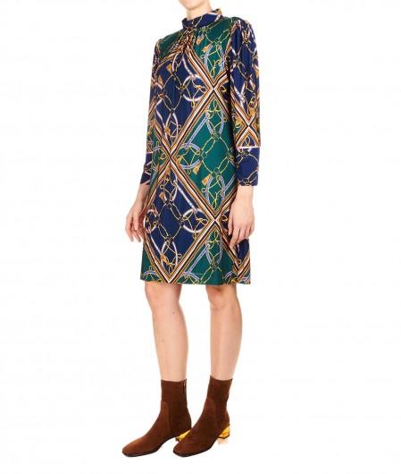 Ana Alcazar Mini dress with print dark green