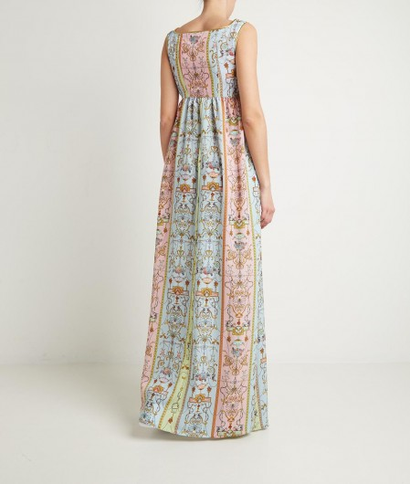Versace Jeans Couture Kleid mit Tuileries Print Bunt