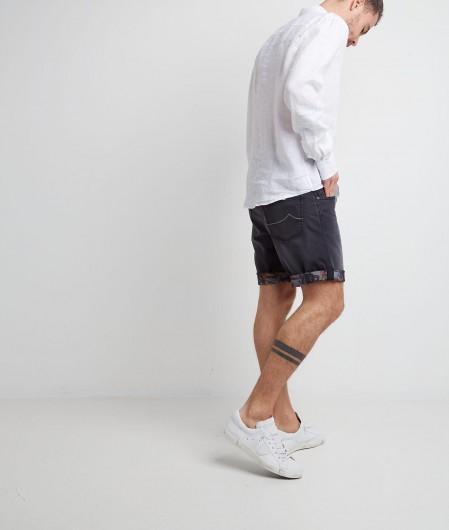 Luis Trenker  Hemd in Leinen Weiß