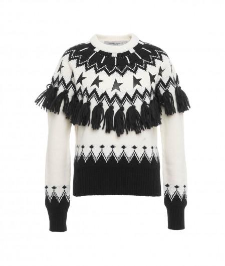 "Golden Goose Patchwork Sweater ""Deidra"" Weiß"