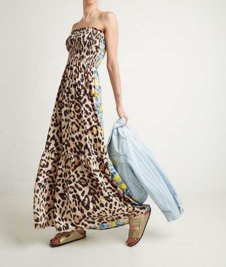 5 Progress Printed maxi dress multicoloured