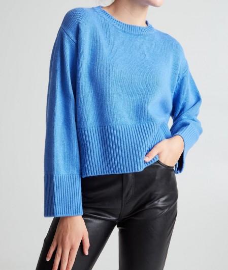 Kaos Cropped Sweater Blau