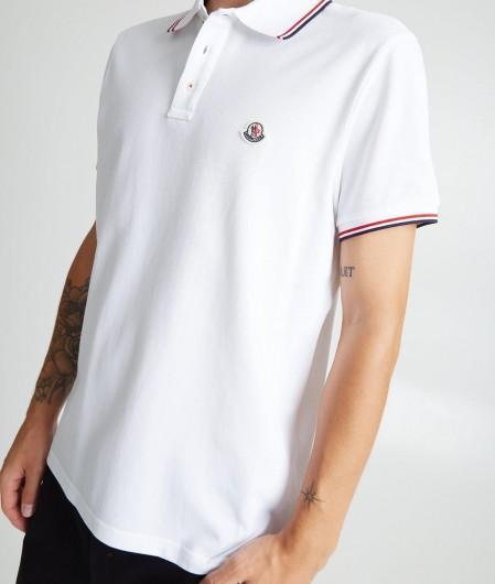 Moncler Polo with logo white