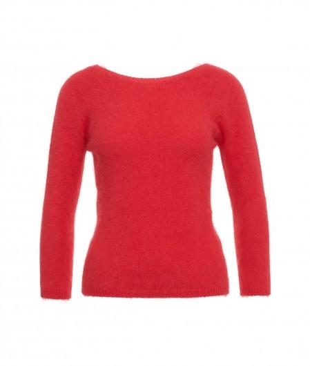 Roberto Collina Light sweater in angora red