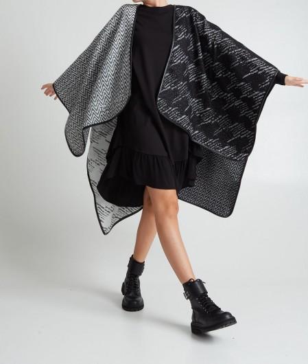 Twin Set Kleid mit Creponne-Einsatz Schwarz
