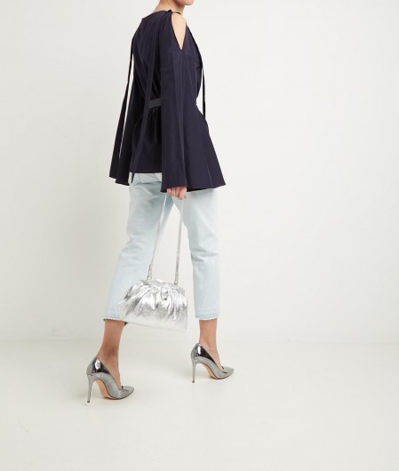 Ballantyne Blouse with bell sleeves blue