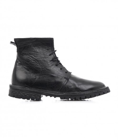 MOMA Ankle boot in leather black