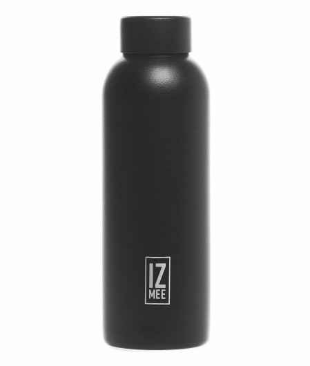 """Izmee Thermos water bottle """"Full carbon"""" black"""