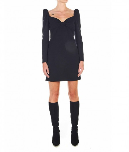 RED Valentino  Draped mini-dress black