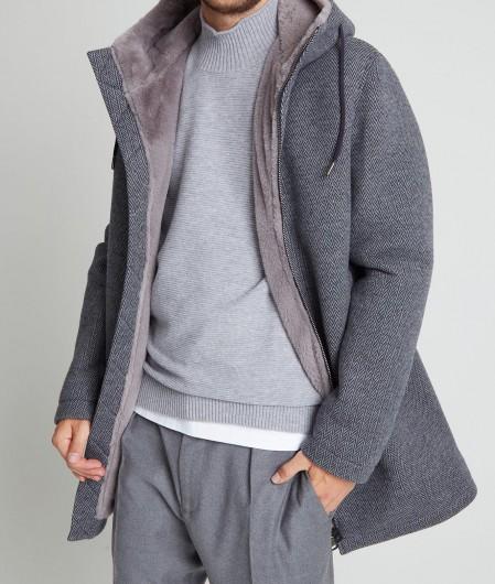 Herno Mantel mit Fütterung Grau