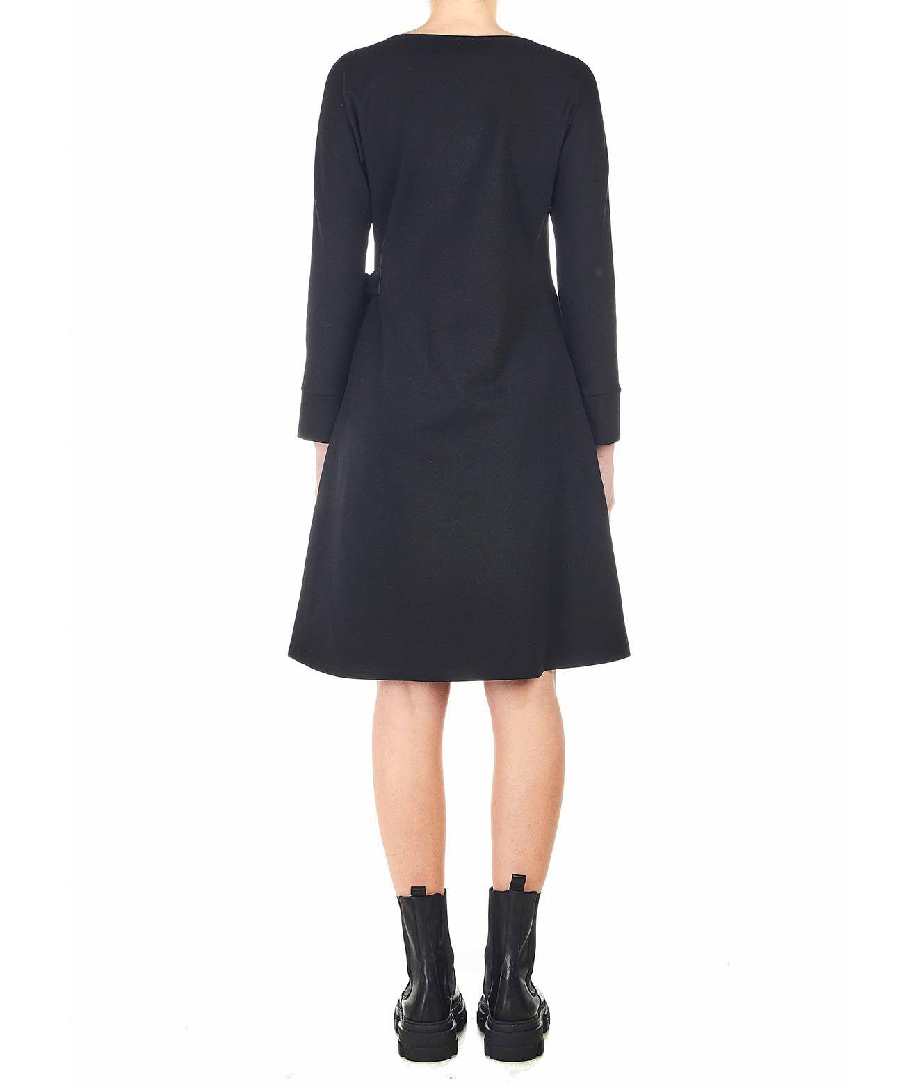 Oblo Unique Kleid Mit Seitlicher Schleife Schwarz Maximilian