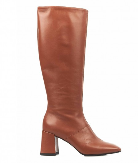 Giampaolo Viozzi  Boots in smooth leather orange