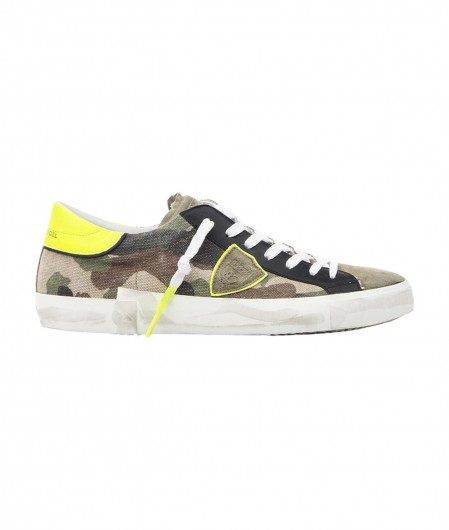 """Philippe Model Sneakers """"PRSX LOW CAMOUFLAGE"""" Grün"""