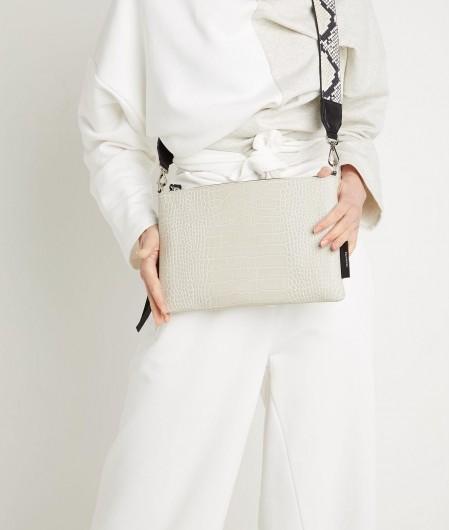 "Profanter Mini bag ""Juna"" in crocodile look creme"
