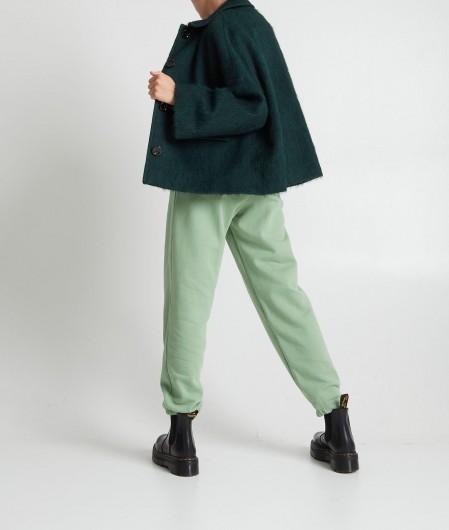 Breras Jacket in wool blend green