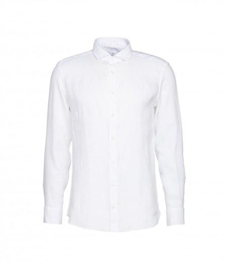 "Bastoncino Hemd aus Leinen ""Simo"" Weiß"