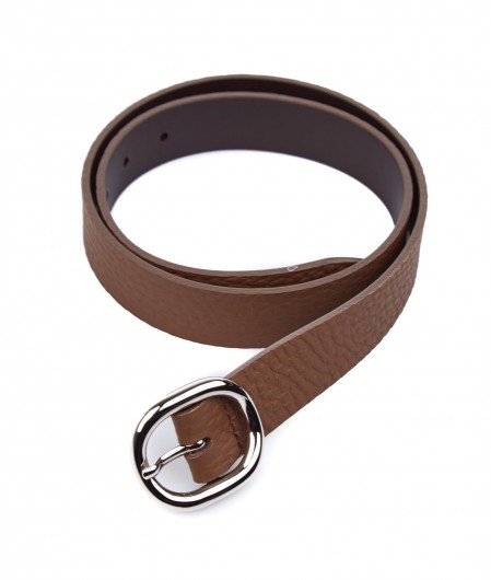 Orciani Leather belt with buckle brown