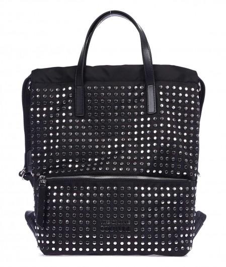 Versace Jeans Couture Rucksack mit Nieten Schwarz