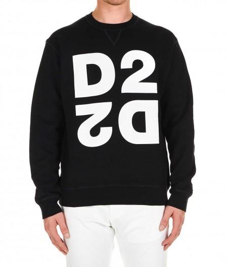 Dsquared2 Sweatshirt D2 Schwarz
