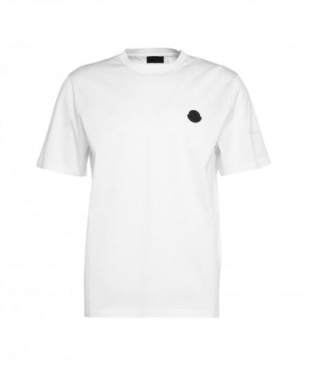 Moncler T-Shirt mit Logopatch Weiß