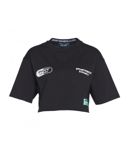 Pharmacy Industry Crop top with logo black