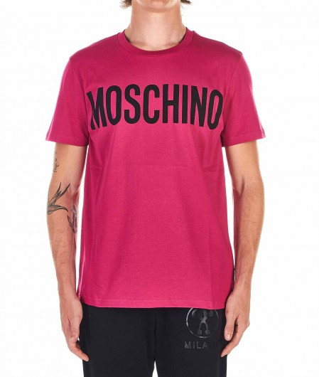 Moschino T-shirt with logo pink